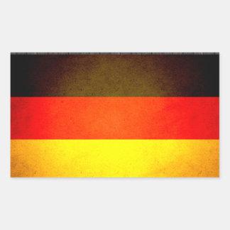 Sun besó la bandera de Alemania Pegatina Rectangular