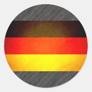 Sun besó la bandera de Alemania Pegatina Redonda