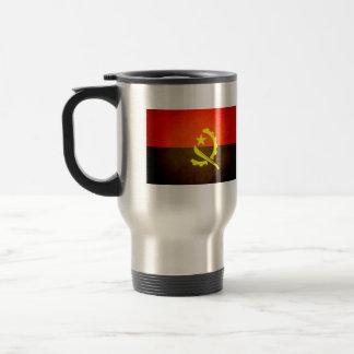 Sun besó la bandera de Angola Taza Térmica