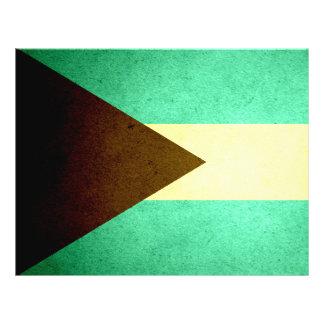 Sun besó la bandera de Bahamas Tarjetones
