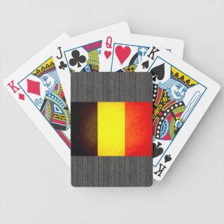 Sun besó la bandera de Bélgica Baraja Cartas De Poker