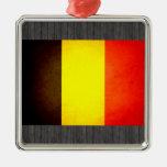 Sun besó la bandera de Bélgica Ornamento De Navidad