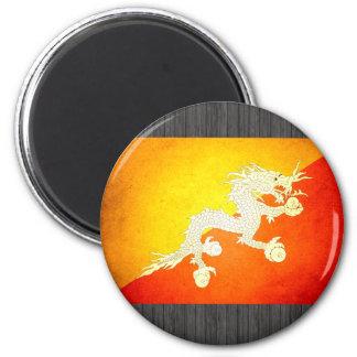 Sun besó la bandera de Bhután Imán Redondo 5 Cm