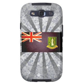Sun besó la bandera de British Virgin Islands Galaxy SIII Cárcasas