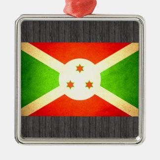 Sun besó la bandera de Burundi Ornamento De Navidad