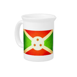 Sun besó la bandera de Burundi Jarrón
