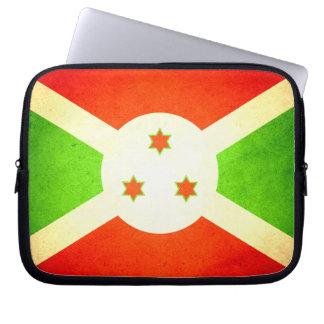Sun besó la bandera de Burundi Mangas Portátiles