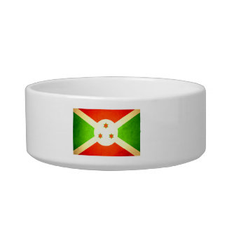 Sun besó la bandera de Burundi Tazón Para Gato