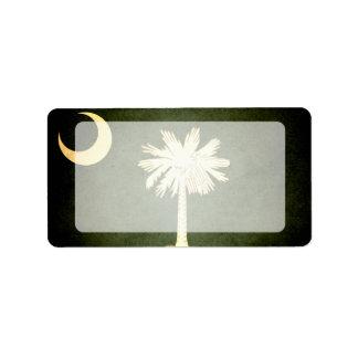 Sun besó la bandera de Carolina del Sur Etiqueta De Dirección
