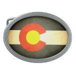 Sun besó la bandera de Colorado Hebilla Cinturon