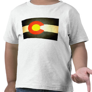 Sun besó la bandera de Colorado Camiseta