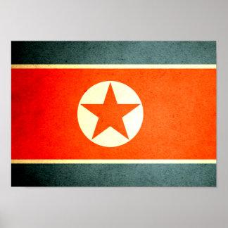 Sun besó la bandera de Corea del Norte Posters