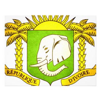 Sun besó la bandera de Costa de Marfil Tarjeta Publicitaria