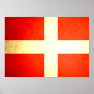 Sun besó la bandera de Dinamarca Posters