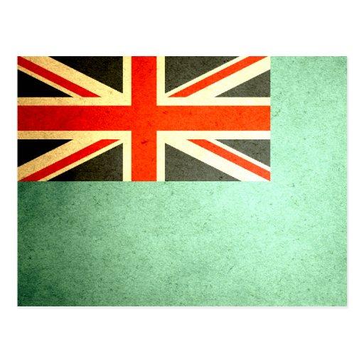 Sun besó la bandera de Fiji Tarjeta Postal