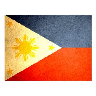 Sun besó la bandera de Filipinas Postal