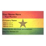 Sun besó la bandera de Ghana Tarjeta De Visita