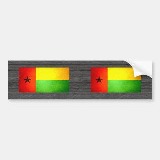 Sun besó la bandera de Guinea-Bissau Pegatina Para Auto