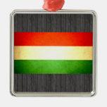Sun besó la bandera de Hungría Adorno De Navidad