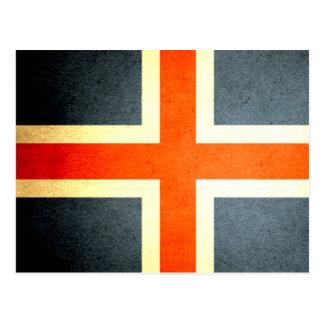 Sun besó la bandera de Islandia Postales