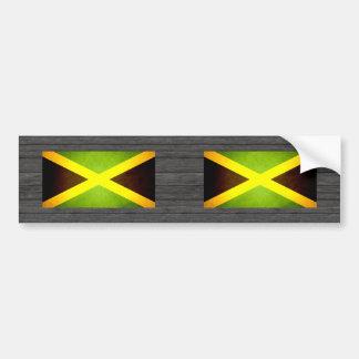 Sun besó la bandera de Jamaica Pegatina Para Auto