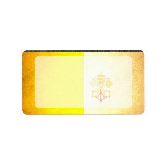 Sun besó la bandera de la Ciudad del Vaticano Etiqueta De Dirección