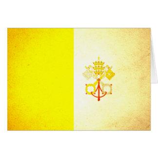 Sun besó la bandera de la Ciudad del Vaticano Tarjetón