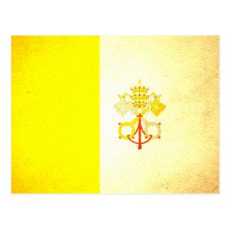 Sun besó la bandera de la Ciudad del Vaticano Postal