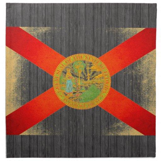 Sun besó la bandera de la Florida Servilletas De Papel