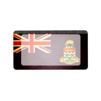 Sun besó la bandera de las Islas Caimán Etiqueta De Dirección