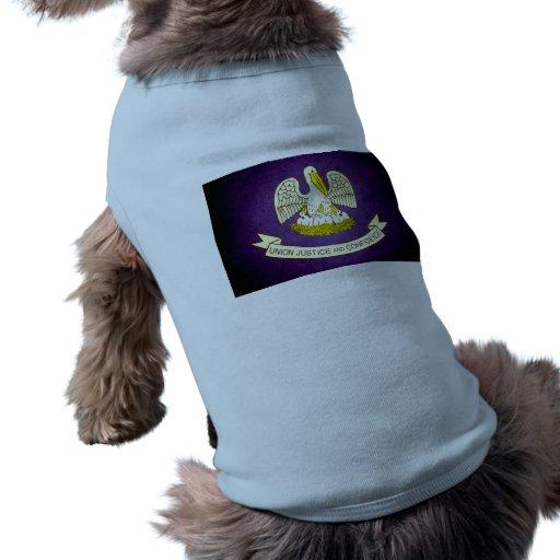 Sun besó la bandera de Luisiana Playera Sin Mangas Para Perro
