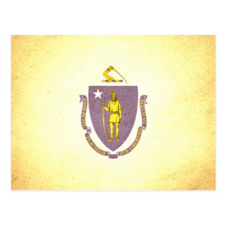 Sun besó la bandera de Massachusetts Tarjeta Postal