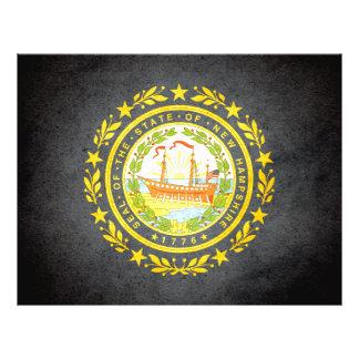Sun besó la bandera de New Hampshire Tarjetón