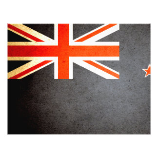 Sun besó la bandera de Nueva Zelanda Flyer Personalizado