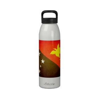 Sun besó la bandera de Papúa Nueva Guinea Botella De Agua