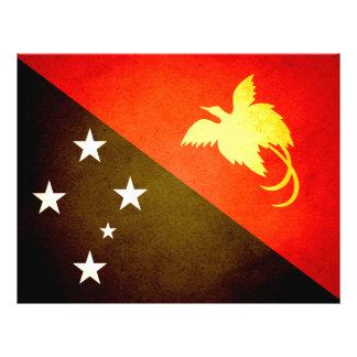 Sun besó la bandera de Papúa Nueva Guinea Tarjeta Publicitaria