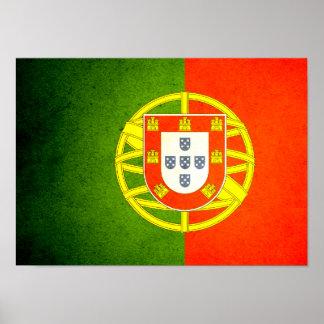 Sun besó la bandera de Portugal Posters