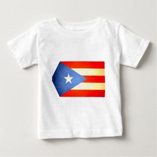 Sun besó la bandera de Puerto Rico Playera Para Bebé