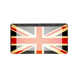 Sun besó la bandera de Reino Unido Etiquetas De Dirección
