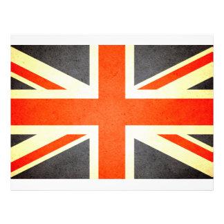 Sun besó la bandera de Reino Unido Tarjeton