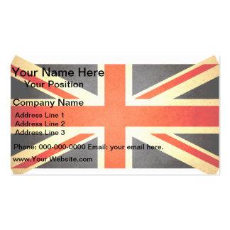 Sun besó la bandera de Reino Unido Tarjetas De Visita