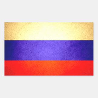 Sun besó la bandera de Rusia Rectangular Pegatina