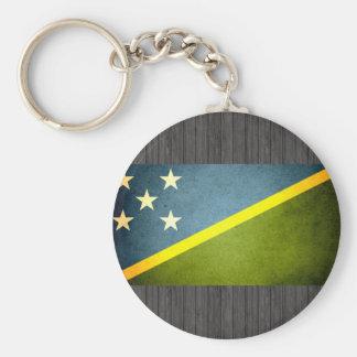 Sun besó la bandera de Solomon Island Llaveros Personalizados