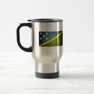 Sun besó la bandera de Solomon Island Tazas