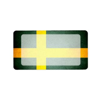 Sun besó la bandera de Suecia Etiquetas De Dirección