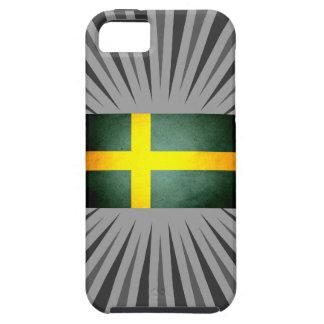 Sun besó la bandera de Suecia iPhone 5 Case-Mate Fundas