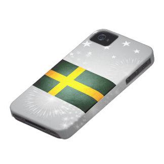 Sun besó la bandera de Suecia iPhone 4 Protector