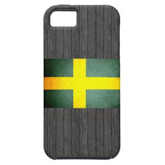 Sun besó la bandera de Suecia iPhone 5 Case-Mate Cárcasa