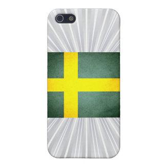 Sun besó la bandera de Suecia iPhone 5 Cárcasas