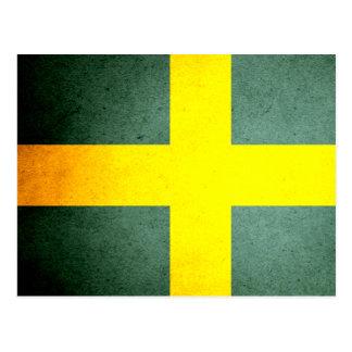 Sun besó la bandera de Suecia Postales